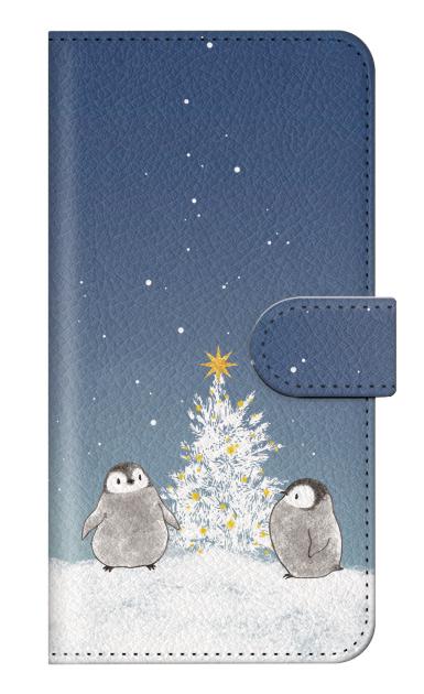 AQUOS R3のケース、静かなペンギンの夜【スマホケース】