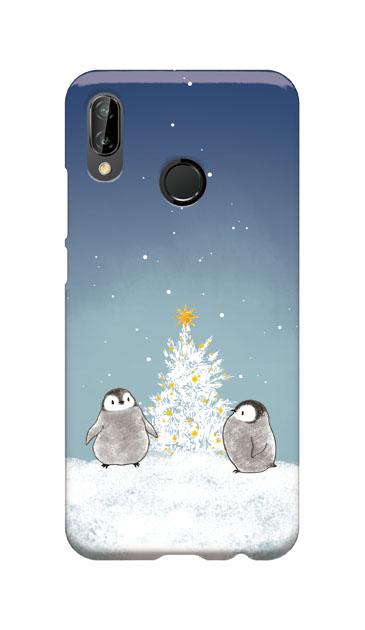 HUAWEI P20 liteのケース、静かなペンギンの夜【スマホケース】