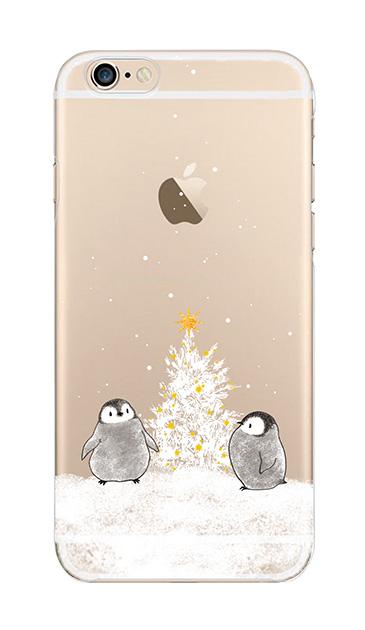 iPhone6sのクリア(透明)ケース、静かなペンギンの夜【スマホケース】
