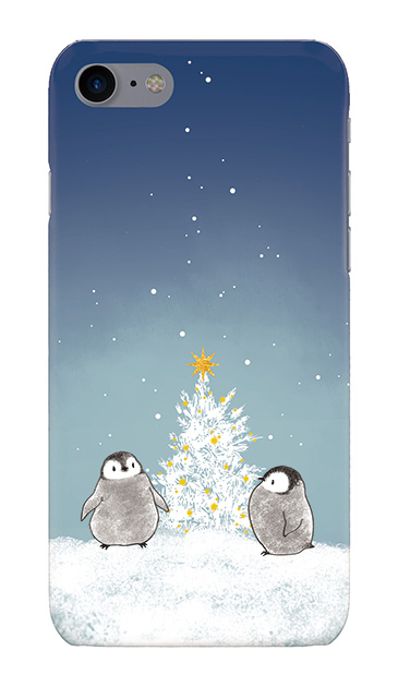 iPhone8のケース、静かなペンギンの夜【スマホケース】