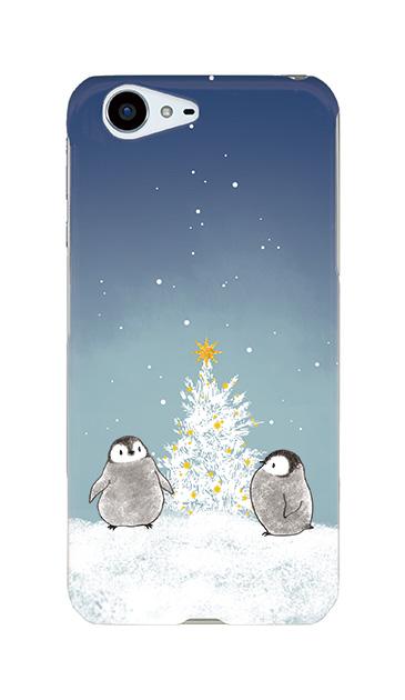 AQUOS ZETAのケース、静かなペンギンの夜【スマホケース】
