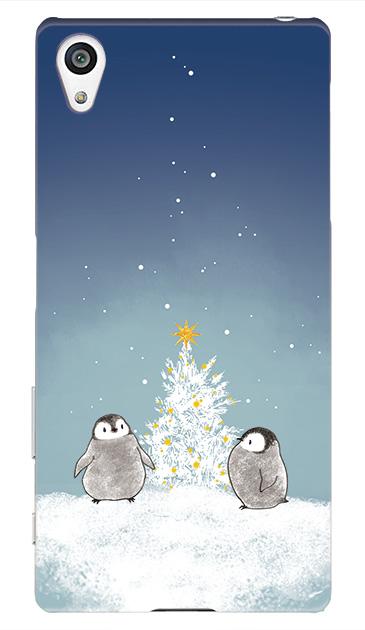 Xperia Z5のケース、静かなペンギンの夜【スマホケース】