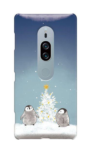 Xperia XZ2 Premiumのケース、静かなペンギンの夜【スマホケース】