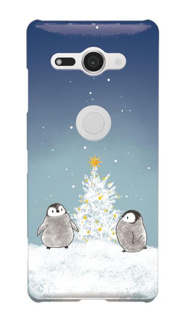 Xperia XZ2 Compactのケース、静かなペンギンの夜【スマホケース】