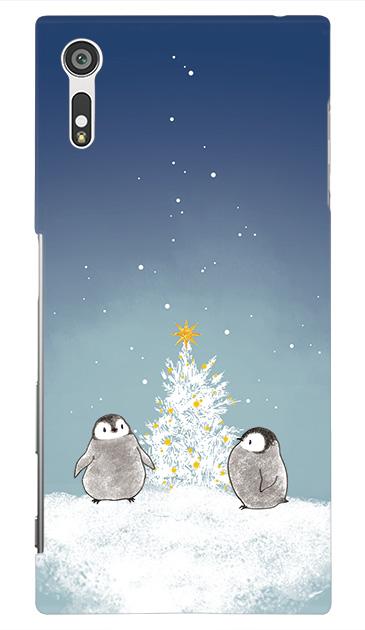 Xperia XZのハードケース、静かなペンギンの夜【スマホケース】
