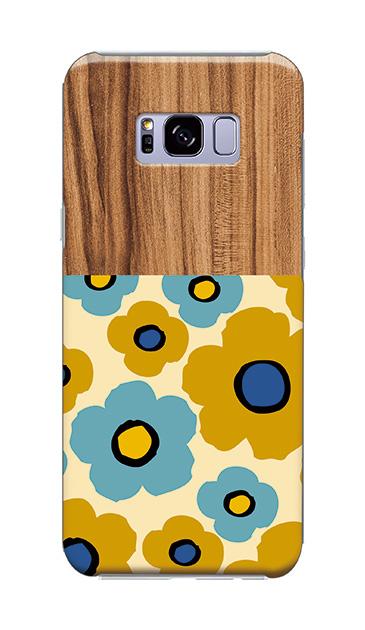 Galaxy S8+のケース、ツインカラーフラワー【スマホケース】