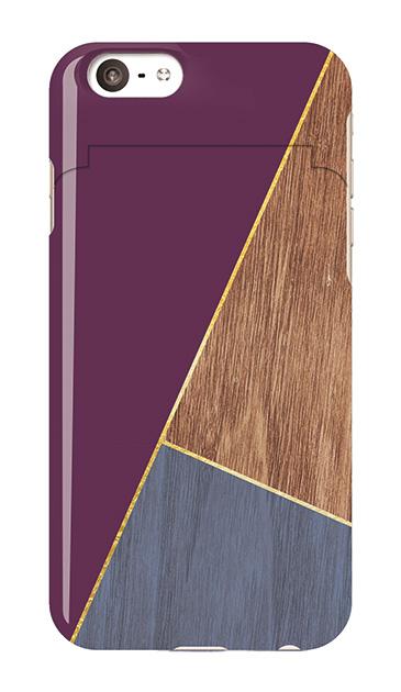 iPhone6sのミラー付きケース、シックWOODパレット【スマホケース】