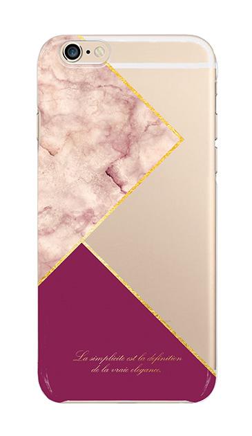 iPhone6sのクリア(透明)ケース、ブロッキングカラーパレット【スマホケース】