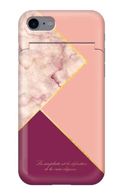 iPhone8のミラー付きケース、ブロッキングカラーパレット【スマホケース】