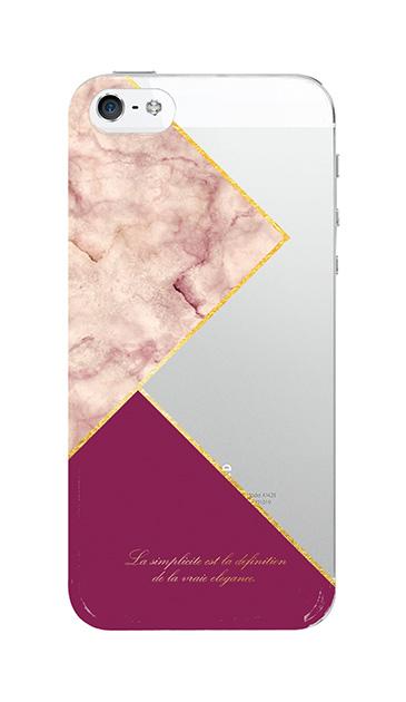 iPhoneSEのクリア(透明)ケース、ブロッキングカラーパレット【スマホケース】