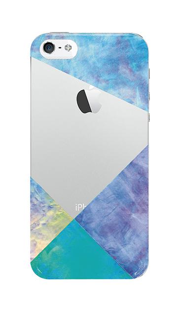 iPhone5Sのクリア(透明)ケース、朝焼けパステルパレット【スマホケース】