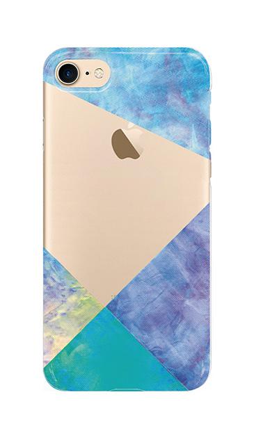 iPhone8のクリア(透明)ケース、朝焼けパステルパレット【スマホケース】