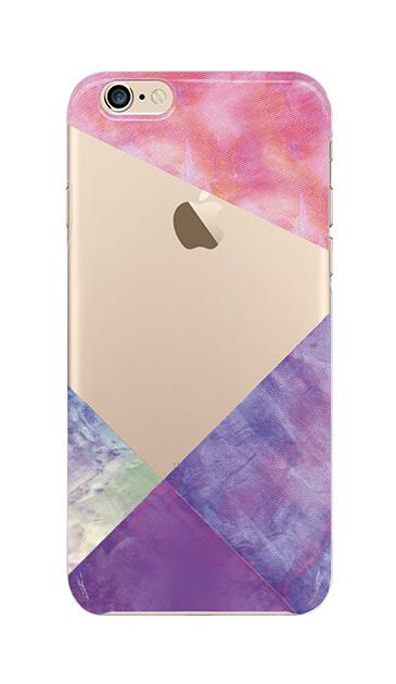 iPhone6sのクリア(透明)ケース、朝焼けパステルパレット【スマホケース】
