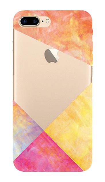 iPhone7 Plusのクリア(透明)ケース、朝焼けパステルパレット【スマホケース】