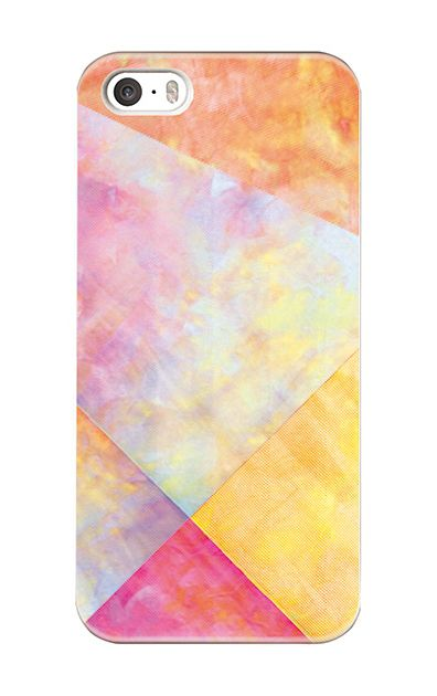 iPhoneSEのケース、朝焼けパステルパレット【スマホケース】