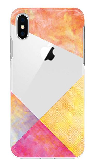 iPhoneXのケース、朝焼けパステルパレット【スマホケース】