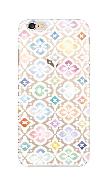 iPhone6sのクリア(透明)ケース、フラワーモロッコ