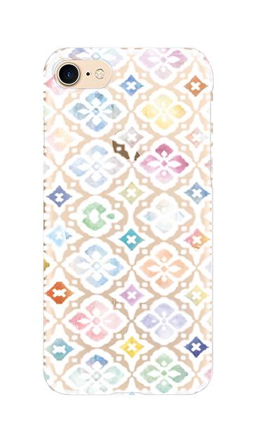 iPhone7のクリア(透明)ケース、フラワーモロッコ