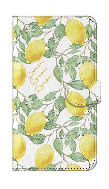 iPhone7の手帳型ケース、アートなレモン