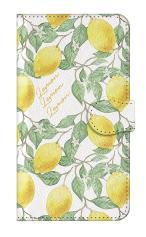 iPhone5c対応の手帳型ケース、アートなレモン