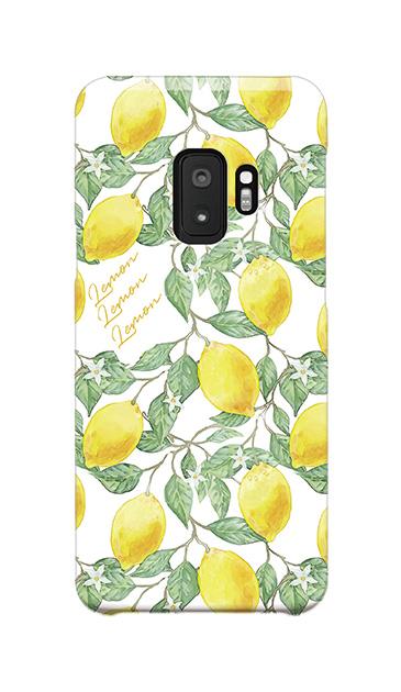 Galaxy S9のハードケース、アートなレモン