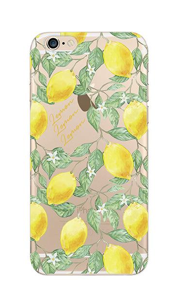 iPhone6sのクリア(透明)ケース、アートなレモン