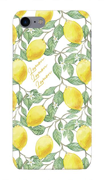 iPhone7のハードケース、アートなレモン