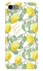 iPhone7対応のハードケース・ツヤ有り、アートなレモン