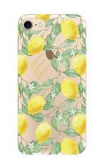 iPhone7対応のクリアケース、アートなレモン