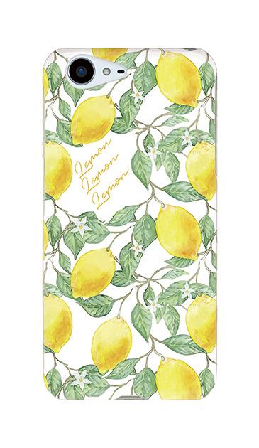 AQUOS ZETAのハードケース、アートなレモン