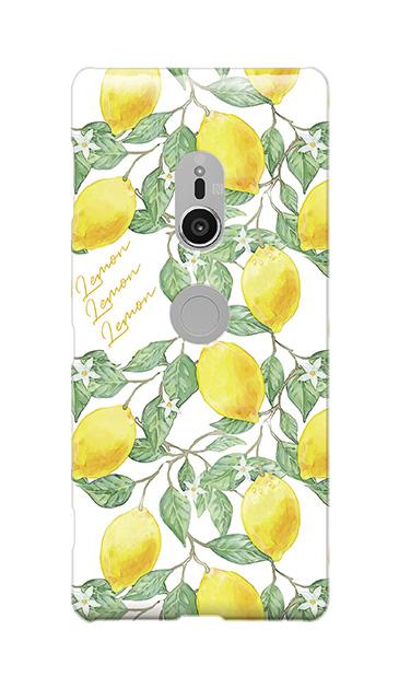 Xperia XZ2のケース、アートなレモン