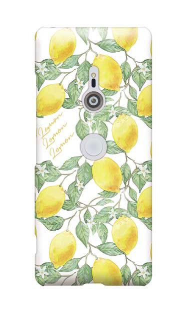 Xperia XZ3のケース、アートなレモン