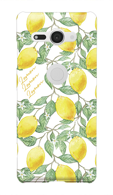 Xperia XZ2 Compactのハードケース、アートなレモン