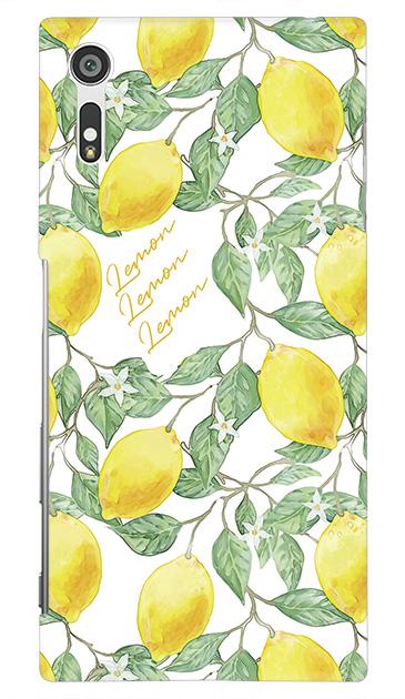 Xperia XZのケース、アートなレモン