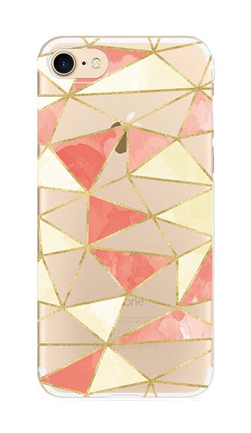 iPhone7のクリア(透明)ケース、ラメラインパレット【スマホケース】