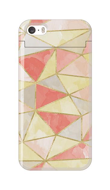 iPhoneSEのケース、ラメラインパレット【スマホケース】