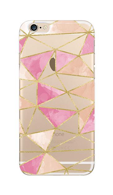 iPhone6sのクリア(透明)ケース、ラメラインパレット