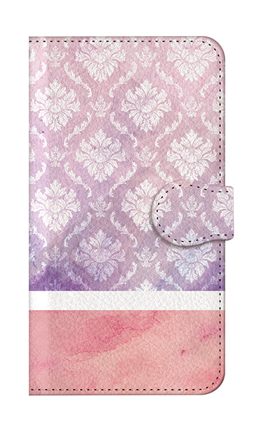 iPhone8の手帳型ケース、ツインダマスク・水彩【スマホケース】