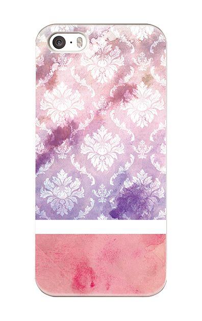 iPhoneSEのケース、ツインダマスク・水彩