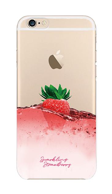 iPhone6sのクリア(透明)ケース、ツインストロベリーシャンパン