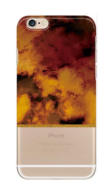 iPhone6sのクリア(透明)ケース、ツインマーブル・アンバー