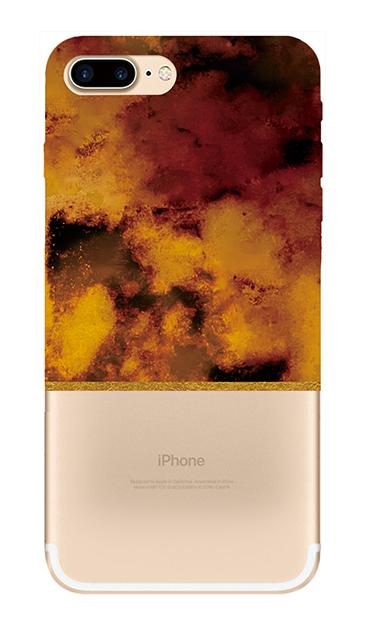 iPhone7 Plusのクリア(透明)ケース、ツインマーブル・アンバー