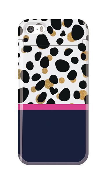 iPhone5Sのクリア(透明)ケース、ツインダルメシアンライン【スマホケース】