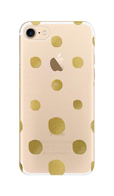 iPhone7のクリア(透明)ケース、コロコロドット【スマホケース】