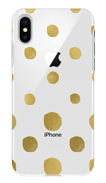 iPhoneXSのケース、コロコロドット