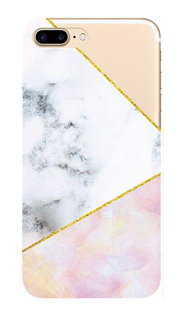 iPhone7 Plusのクリア(透明)ケース、大理石ツインライン