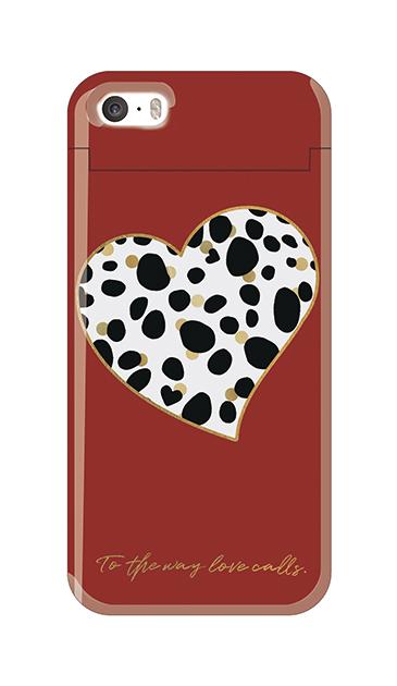 iPhone5Sのクリア(透明)ケース、ダルメシアンハート【スマホケース】