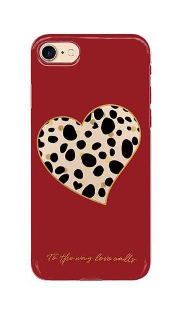iPhone7のクリア(透明)ケース、ダルメシアンハート【スマホケース】