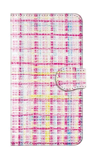 iPhone8の手帳型ケース、カラーチェックツイード【スマホケース】
