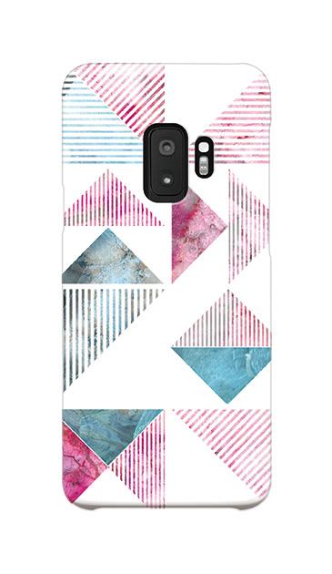 Galaxy S9のハードケース、マーブルストライプトライアングル【スマホケース】